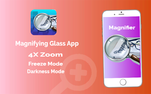 Magnifier App with Deep freez and Flashlight 2