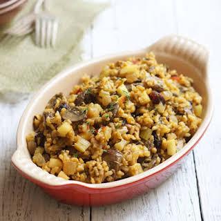Wild Rice & Mushroom Stuffing (Vegan, Gluten-free).