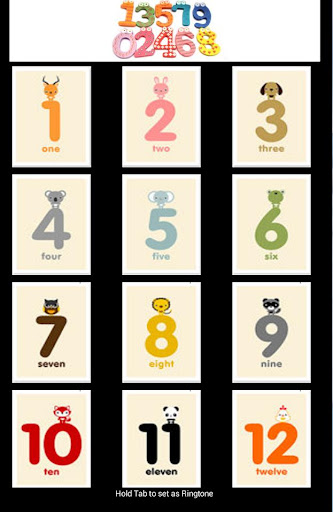 Arabic Numbers For Kids