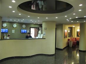 Photo: Rou4HR102-150930Bucarest, hôtel Minerva, accueil, hall & comptoir IMG_8582