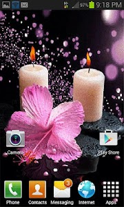 Pink Flower Candle LWP screenshot 2