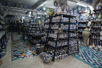 Photo: One of the pottery stores