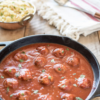 Moroccan Meatballs in Spicy Tomato Sauce.
