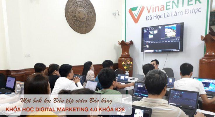 Một buổi học Marketing Online tại Đà Nẵng - Biên tập bán hàng tại Trung tâm đào tạo Vinaenter Academy - Khóa K28