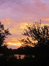 Photo: Sunset over lake at Eastwood Park in Dayton, Ohio.