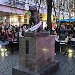 Hachiko statue at Shibuya station, the main meetup spot in Tokyo in Tokyo, Tokyo, Japan