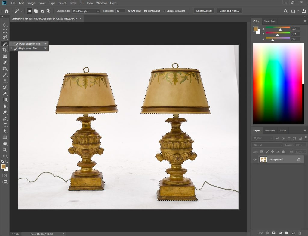 Photoshop Background Removal Step 1