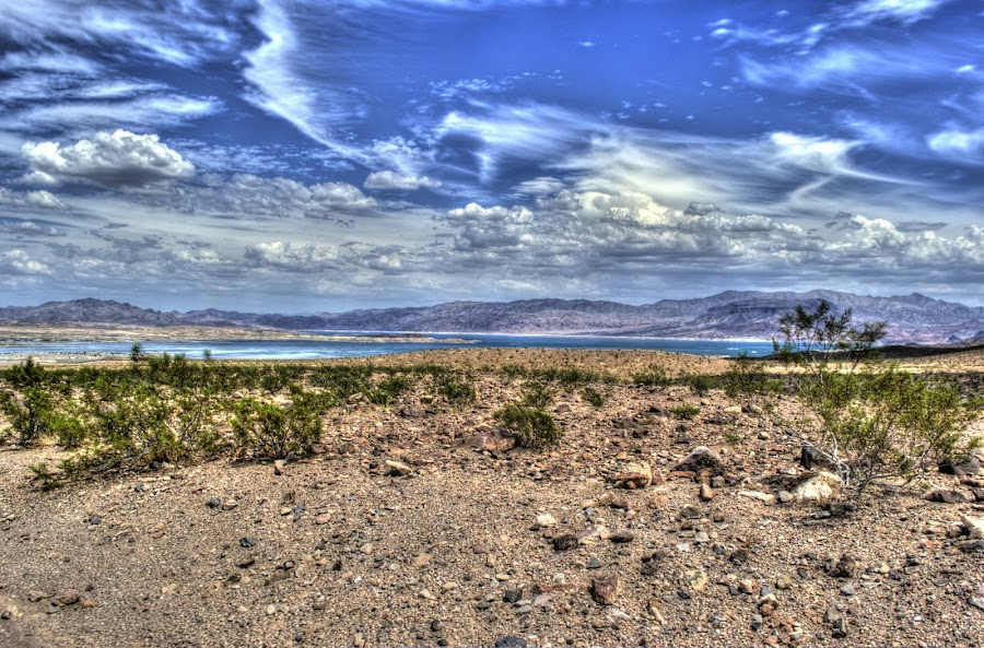 by Patrick Marsh - Landscapes Deserts ( clouds, water, mountain, desert, sky )