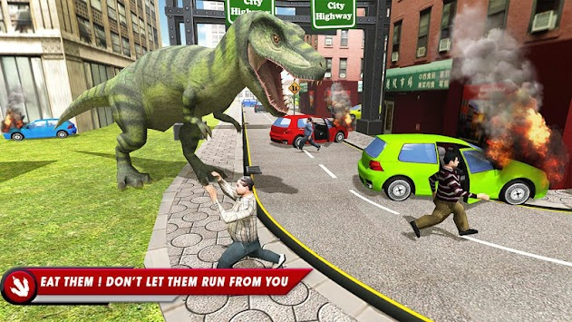 Wild Dinosaur City Mayhem Simulator Attack apk screenshot
