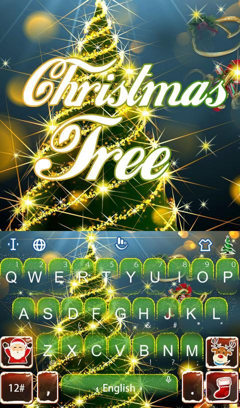 Live 3D Christmas Tree Keyboard Theme- screenshot