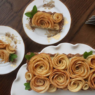Apple Rose Tart with Coconut Pastry Cream {Dairy Free}.