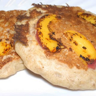 Oatmeal Pancakes with Peaches and Ginger Recipe