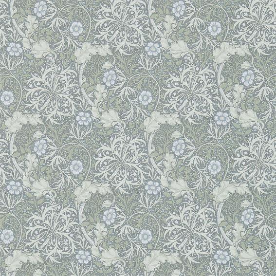 Morris Seaweed Tapet - silver/ecru
