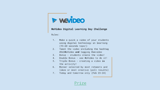 WeVideo Digital Learning Day Challenge