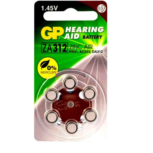 pila gp auditiva hearing aid 312 marron 6und