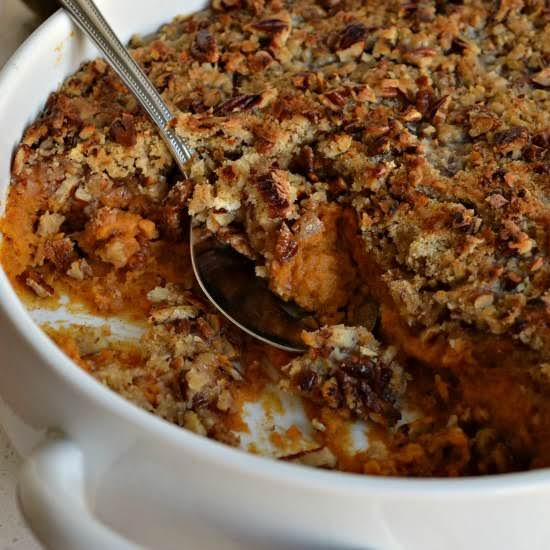 This Super Easy Sweet Potato Casserole Is One My Favorite Side Dishes For The Holidays.  It Is A Family Favorite For Thanksgiving