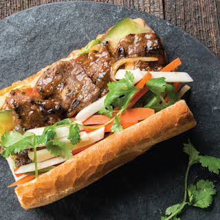 Bánh Mì With Tropical Marinated Flank Steak.
