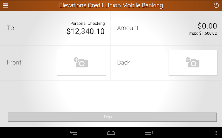 android Elevations Credit Union Mobile Screenshot 9