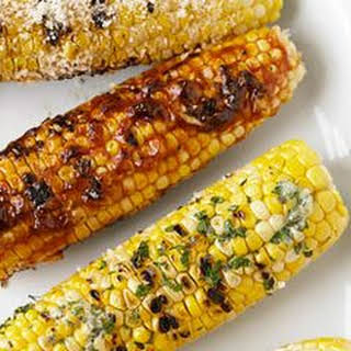 Truffle Oil, Garlic, and Parmesan Grilled Corn.