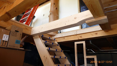 Photo: The 1st floor-to-basement spiral staircase has morphed into a 1/2 floor & trapdoor affair.
