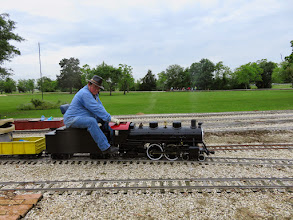 Photo: Pete Greene before a valve gear part came loose and ruined the timing.     HALS Public Run Day 2015-0418 RPW
