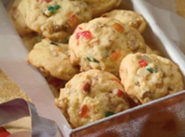 Festive Rum Fruitcake Cookies