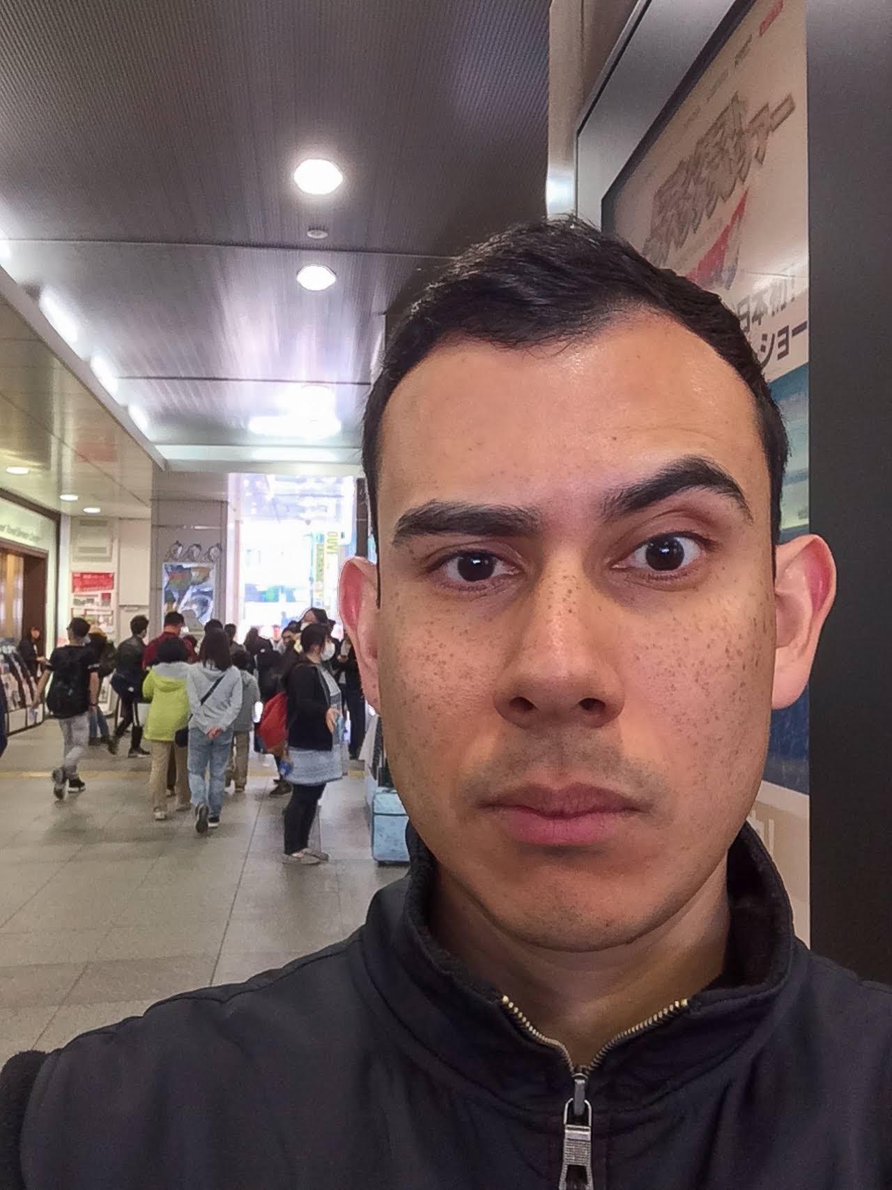 Selfie taken at Akihabara Station
