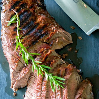 Red Wine Rosemary Marinated London Broil.