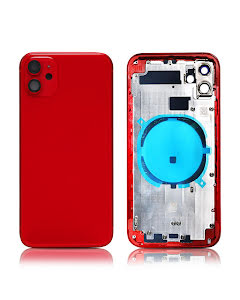 iPhone 11 Back Housing without logo High Quality Red