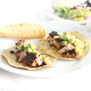 Blackened Salmon Tacos with Pineapple Salsa Recipe
