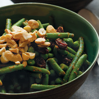 Green Bean Curry with Peas and Cashews.