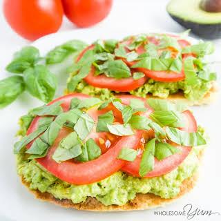 Tomato Basil Avocado Toast (Paleo, Low Carb).