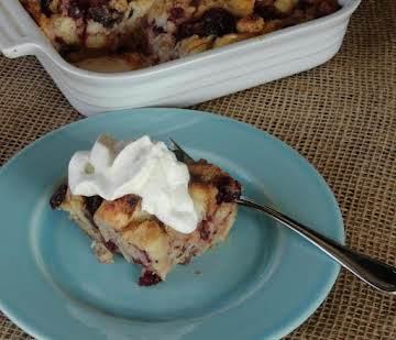 Classic Cranberry Bread Pudding