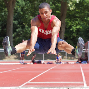 Intense Jumping by John Crongeyer - Sports & Fitness Other Sports ( intensity, long jump, sport, jump, athletic )