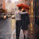 Romancing With Rain Stickers for WA - WAstickerapp icon