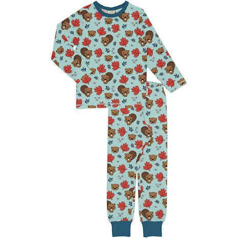 Maxomorra Pyjamas Set LS Beaver Friends