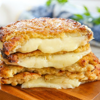 Cauliflower Crusted Grilled Cheese Sandwiches.