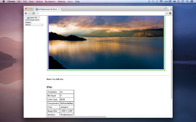 Exif Meta Viewer With Drive