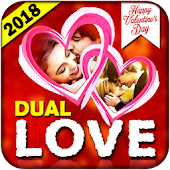 Dual Love Romantic Photo Frames