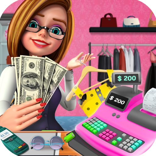 New Year Sale Cashier: Shopping Mall Cash Register for PC