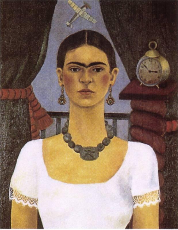 Self Portrait Time Flies - by Frida Kahlo