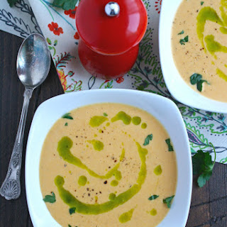 Roasted Butternut Squash & Fennel Soup with Parsley Oil