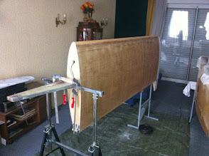 Photo: détail support aile....bien pratique et stable