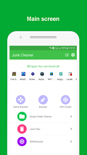 Junk Cleaner - Game Booster & Empty Folder Cleaner 1.0.4 screenshots 2