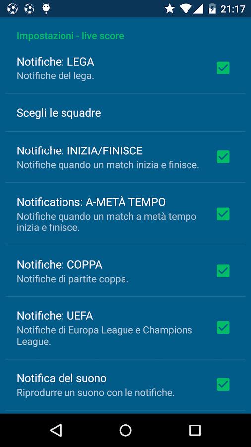 Serie A- screenshot