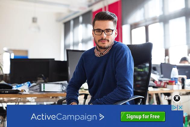 Лучшие практики для графических объявлений. Визуальный пример ActiveCampaign