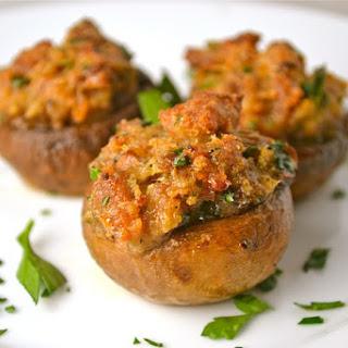 Italian Stuffed Mushrooms - Thanksgiving Appetizer.