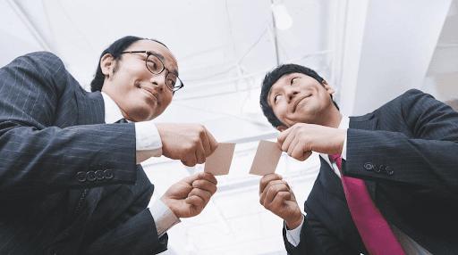 echange de carte de visite japon