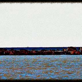 Cement Ship by Amber Reeder Crowl - Transportation Boats