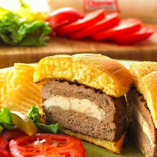 Chavrie Stuffed Turkey Burgers.